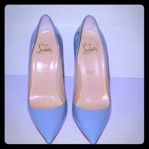 So Kate Christian louboutin light blue red bottoms